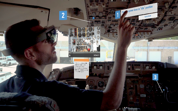 AUGMENTOR™ being utilized in a military air craft.