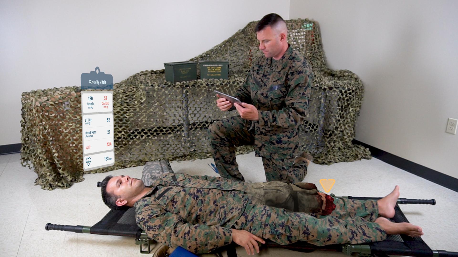 Combat Medic utilizing AUGMED